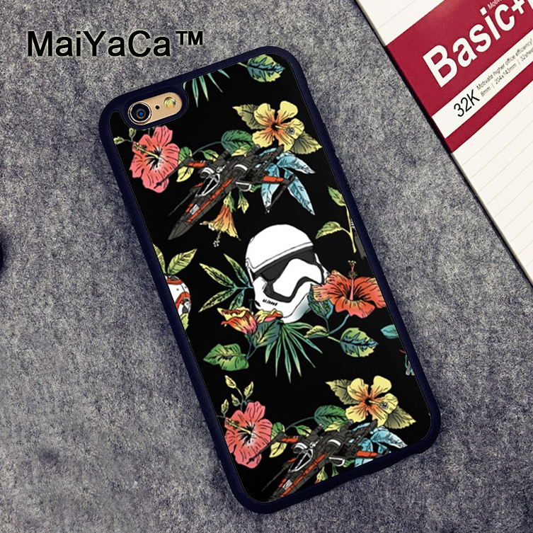 star wars iphone case maiyaca floral wars phone cases for iphone 6 6s coque 16194