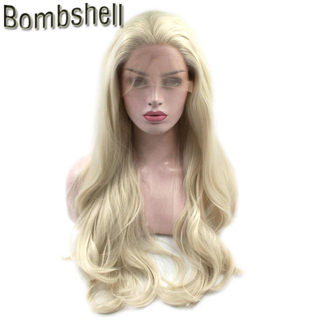 Bombshell Synthetic Lace Front Wig Blonde Body Wave Glueless High