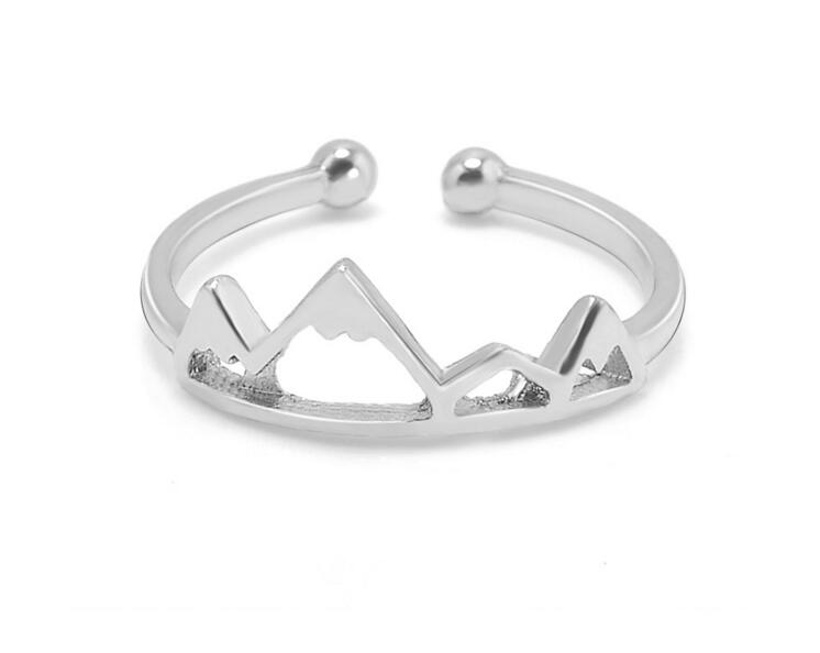 Gorgeous Tale Tiny Adjustable Stacking Sons Of Anarchy Ring Silver Friendship Midi Rings For Women Vintage Mountain Ring Jewelry