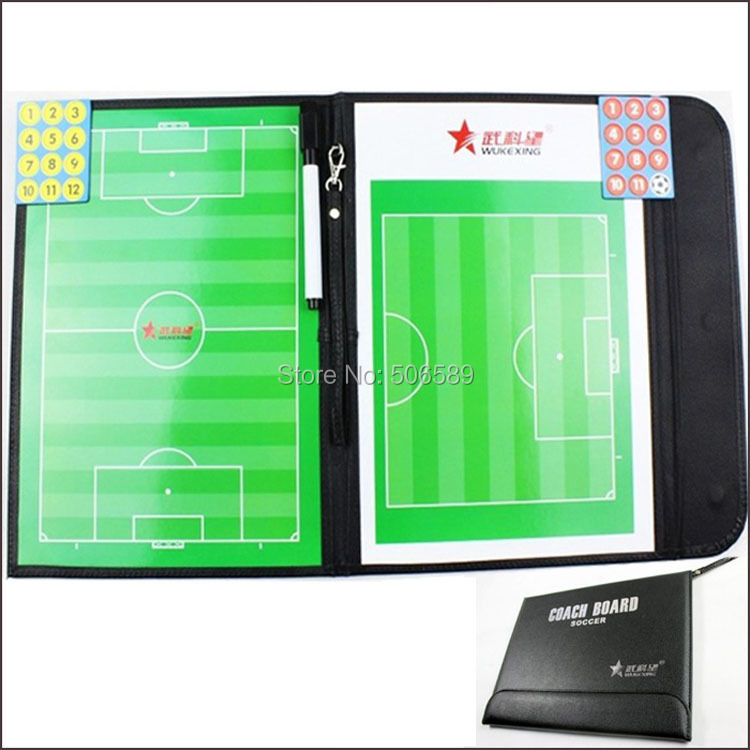 Football Tactical Board Leather Cover 54x32cm 600g