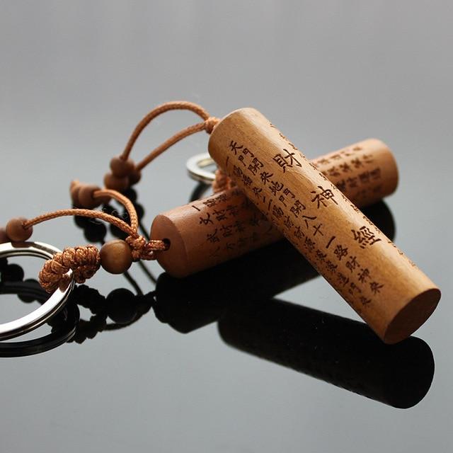 Chinees Houten T Rond.Ronde Jujube Lightning Houten Sleutelhangers Sleutelhanger Auto