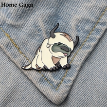 Homegaga Avatar Appa Zinc tie cartoon Funny Pin backpack clothes brooches for men women hat decoration badges medal D1848