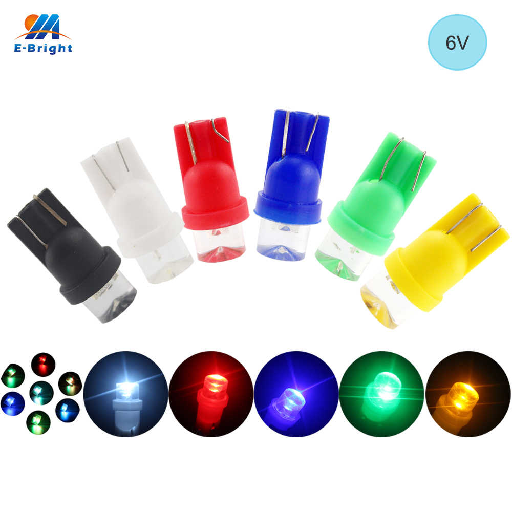 YM E-Bright 6V 6.3V 10X T10 194 168 Concave Lens LED Bulbs with Wedge Car Door Lights White Red Blue Green Amber RGB