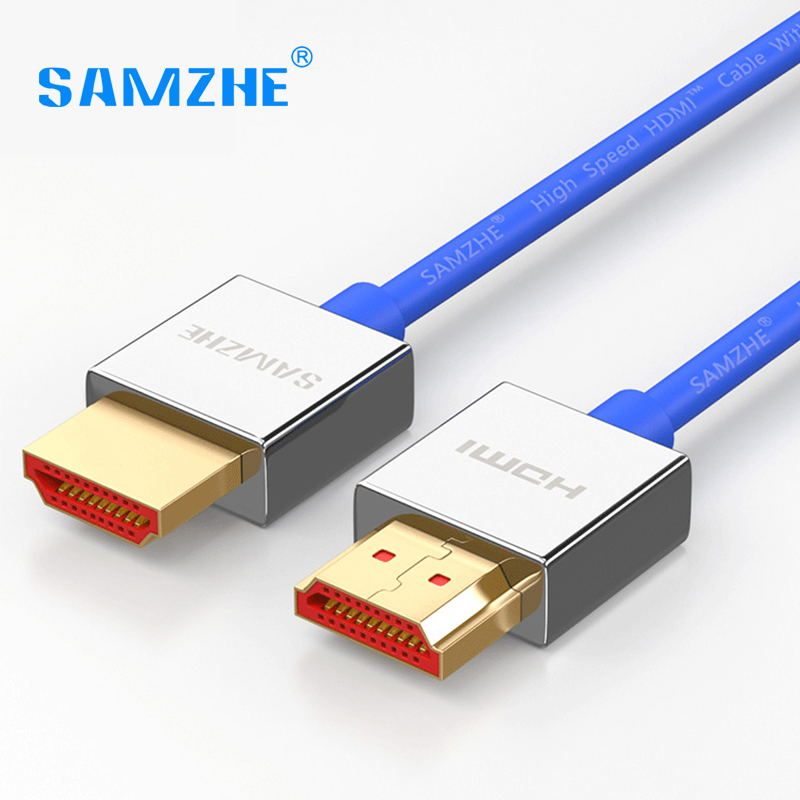 SAMZHE HDMI to HDMI Cable,4K HDMI2.0 Cable Slim Support 3D Ethernet for HDTV Computer Laptop PS4 0.5m 1m 1.5m 2m 3m 5m hdmi cable 2 0 1m 2m 3m 5m 10m 15m ethernet