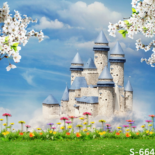 8x8ft(2.4x2.4m) Castle Vinyl Photography Backdrops Photo Studio Photographic Background Children Wedding Party Backdrop
