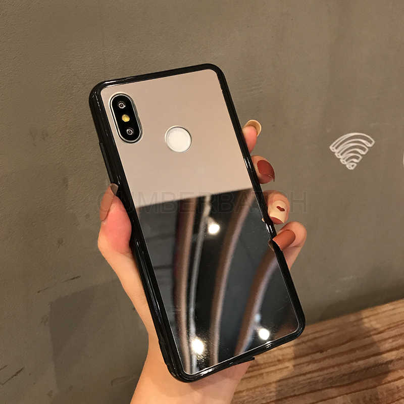 Силиконовый чехол для макияжа mi ror для xiaomi mi 8 A2 lite A1 F1 акриловый ТПУ чехол для Red mi 6A 5A 4A 6 Note 7 Pro 4 4X5 Plus mi 8