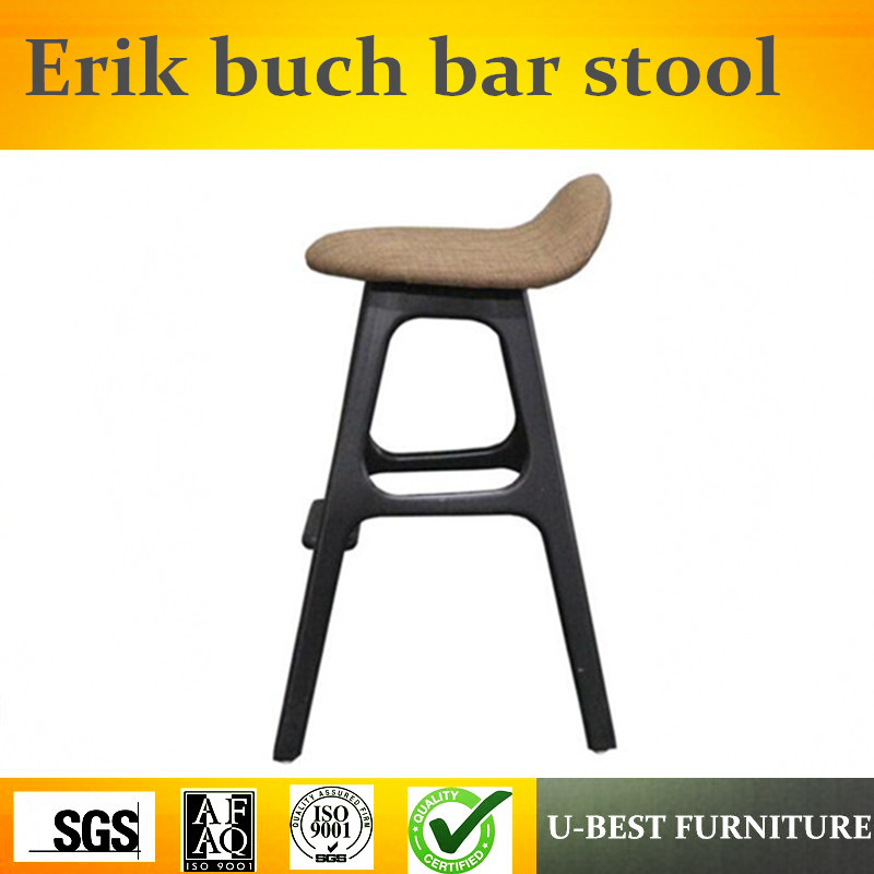 Free Shipping U-BEST Wooden Erik Buch Bar Stool Modern Ash Wood Hotel Counter Stools,wood Counter Kitchen Bar Stool