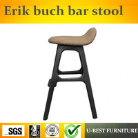 Free shipping U BEST wooden erik buch bar stool modern ash wood hotel counter stools,wood Counter Kitchen Bar Stool