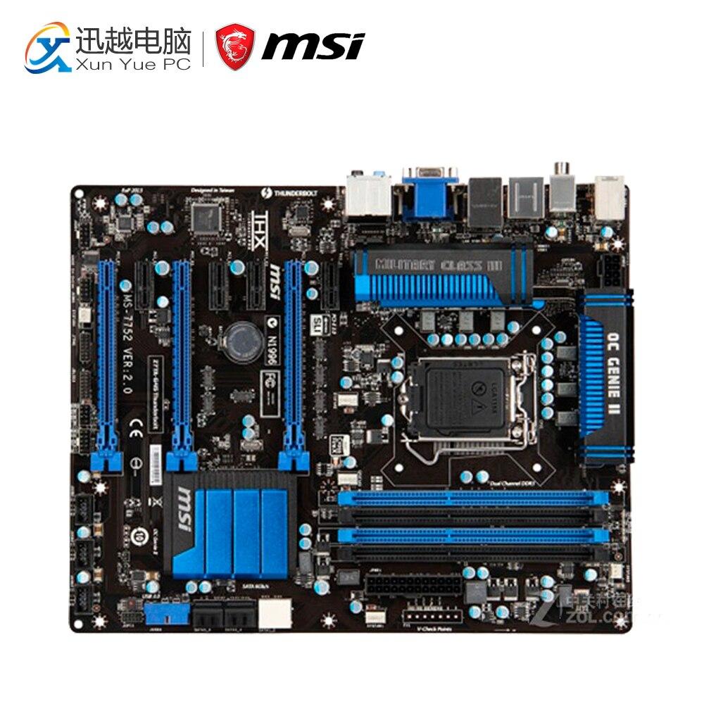 MSI Z77A-G45 Thunderbolt Desktop Motherboard Z77 Socket LGA 1155 i3 i5 i7 DDR3 32G SATA3 ATX msi z77a gd65 gaming desktop motherboard z77 socket lga 1155 i3 i5 i7 ddr3 32g sata3 usb3 0atx