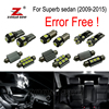 20pc X Nice Quality Error Free LED Interior Dome Light Kit For Skoda Superb 2009