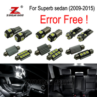 20pc X Nice Quality Error Free LED Interior Dome Light Kit For Skoda Superb 2009