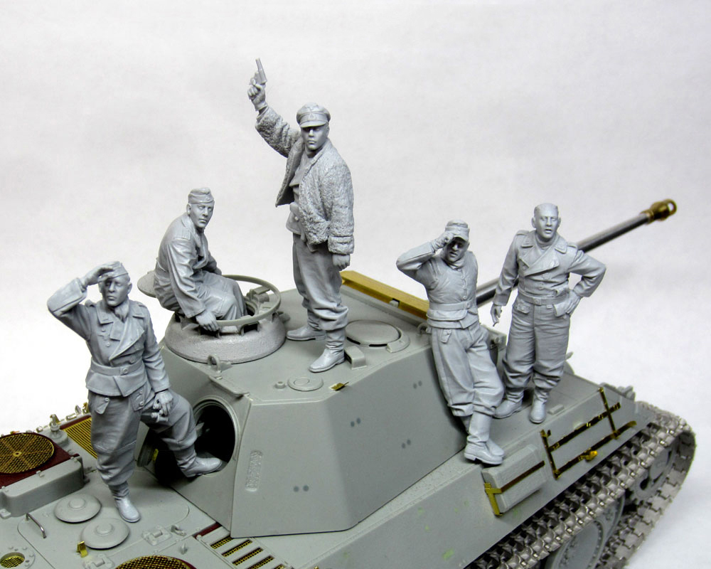 1/35 TANK CREW Soldier (5 Man NO TANK) BIG Set  Toy Resin Model Miniature Resin Figure Unassembly Unpainted