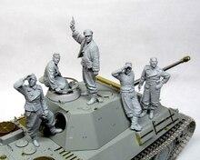 1/35 tanque tripulação antigo (5 homem sem tanque) grande conjunto de brinquedo resina modelo miniatura figura resina unassembly sem pintura