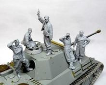 Réservoir ancien (5 hommes sans réservoir), grand ensemble, jouet en résine, modèle Miniature, figurine en résine, non peinte, 1/35