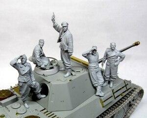 Image 1 - Réservoir ancien (5 hommes sans réservoir), grand ensemble, jouet en résine, modèle Miniature, figurine en résine, non peinte, 1/35