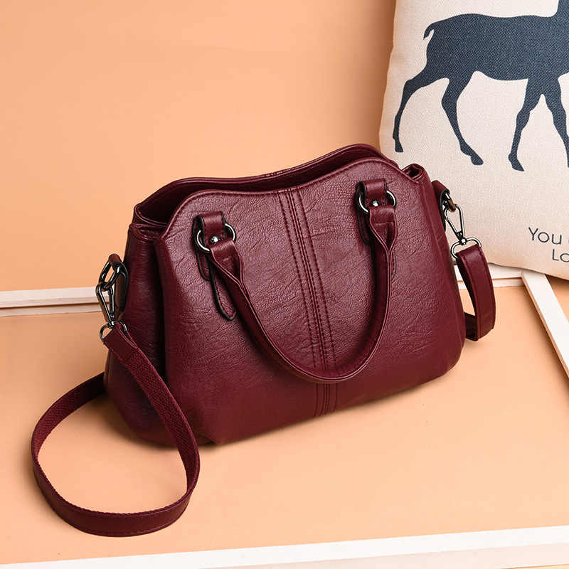 2019 New High Quality Female Tote Womens Genuine Leather Shoulder Bags Luxury Handbags Women Bags Designer Crossbody Bags