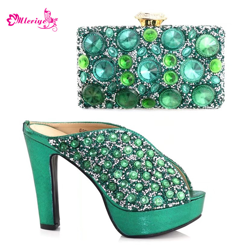 New Arrival Nigerian Shoes and Matching Bags Set Decorated with Rhinestone Italian Shoes with Matching Bags for Wedding ItalyNew Arrival Nigerian Shoes and Matching Bags Set Decorated with Rhinestone Italian Shoes with Matching Bags for Wedding Italy