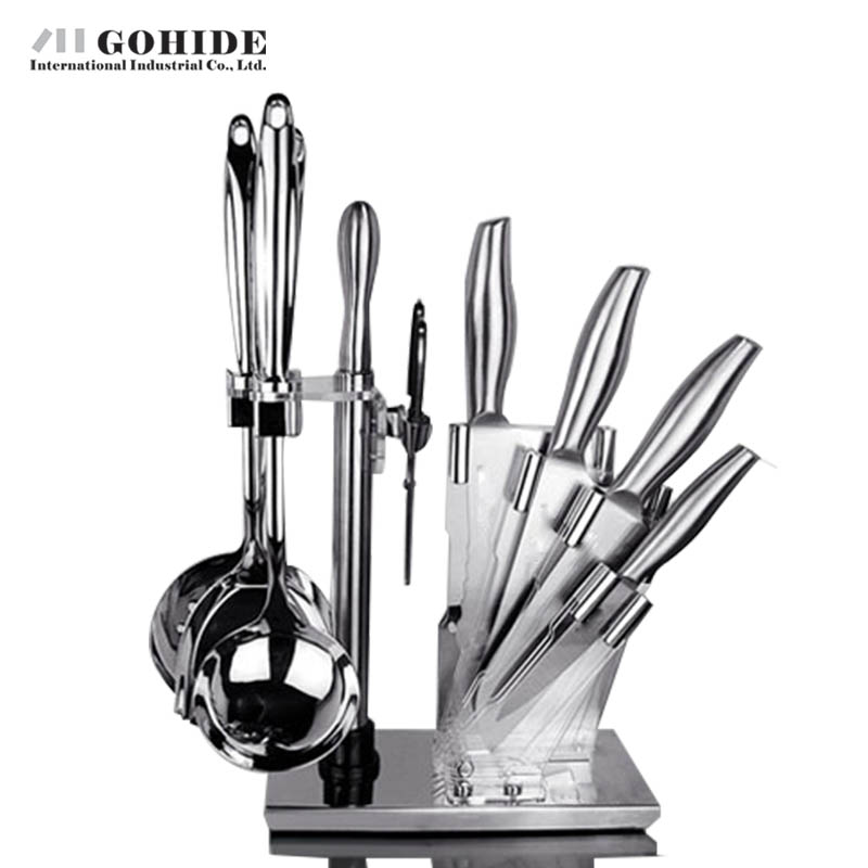 Gohide Super Quality Fashion Design Europe Style Kitchen Set Cutting Tools 10 Piece per Set Kitchen