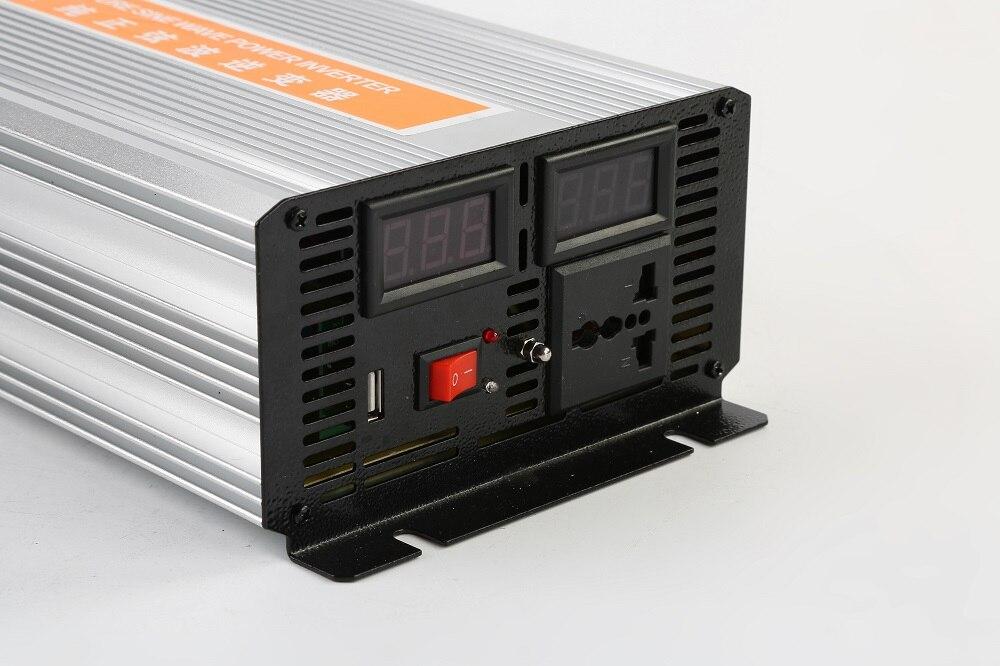 цена на dual digital display 2500W DC48V input to AC220V output 50HZ Pure Sine Wave Power Inverter