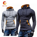 2017 New Fashion Slim Fit Men hoodies Casual Spring Autumn Double-breasted Hoodies Men Long Sleeved 3 Colors Pullover Sweatshirt