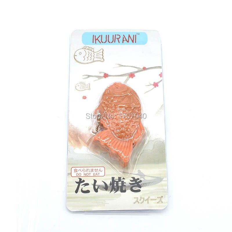 1pcs New Yummy Ikuurani Original Japan Taiyaki Mochi Squeeze Stretchy Funny Kid Toy