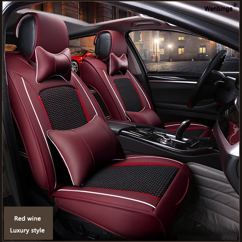 High quality Leather car seat cover for Lada 110 111 112 Kalina Niva Vesta XRAY Granta automobiles accessories styling