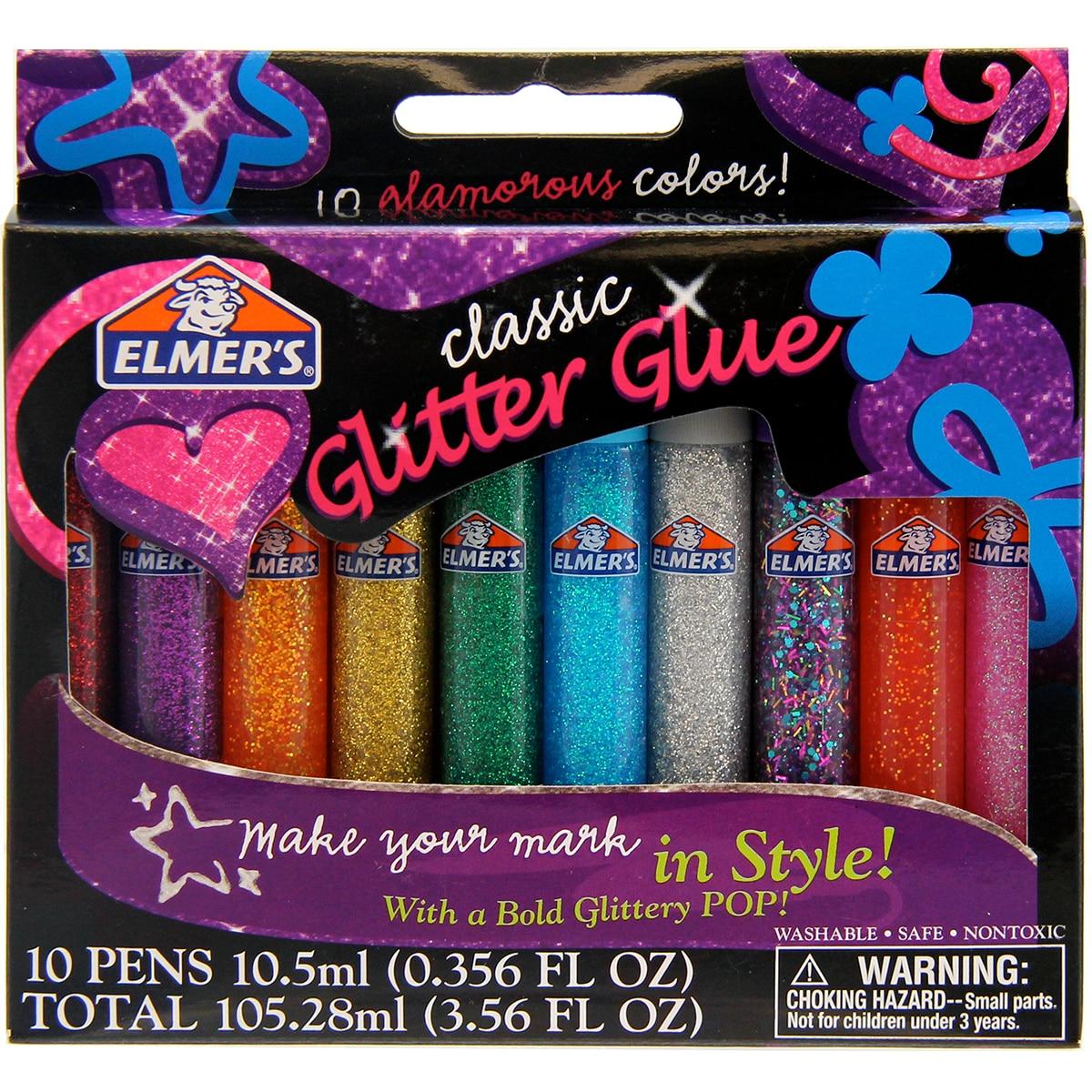 OfficiëLe Website Elmer's 3d Wasbare Glitter Lijm Pennen 10/pkg Klassieke Regenboog Geweldig Voor Maken Slime Pen Verlichten Van Reuma En Verkoudheid