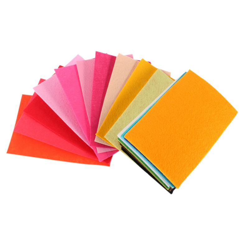 40 Pieces/Pack Polyester Felt Fabric DIY Handmade Sewing Home Decor Material Thickness Cloth Textiles LY8