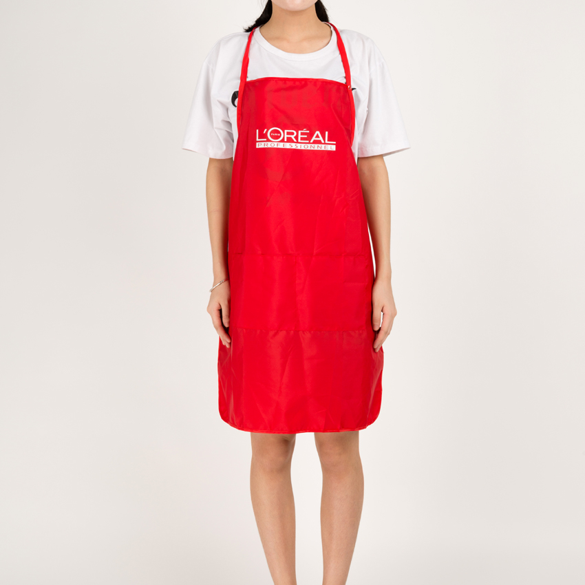 Light Weight Anti-Dirt Hairdresser Apron With Adjustable Belt Harness Hair Salon Apron O-91 With Tools Pocket Hairdressing Cloth
