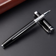 цены Business writing pen simple metal ballpoint pen office signature pen office school stationery