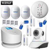 KERUI W2 WiFi GSM PSTN RFID Home Alarm Security System TFT Touch Screen Wifi IP Camera