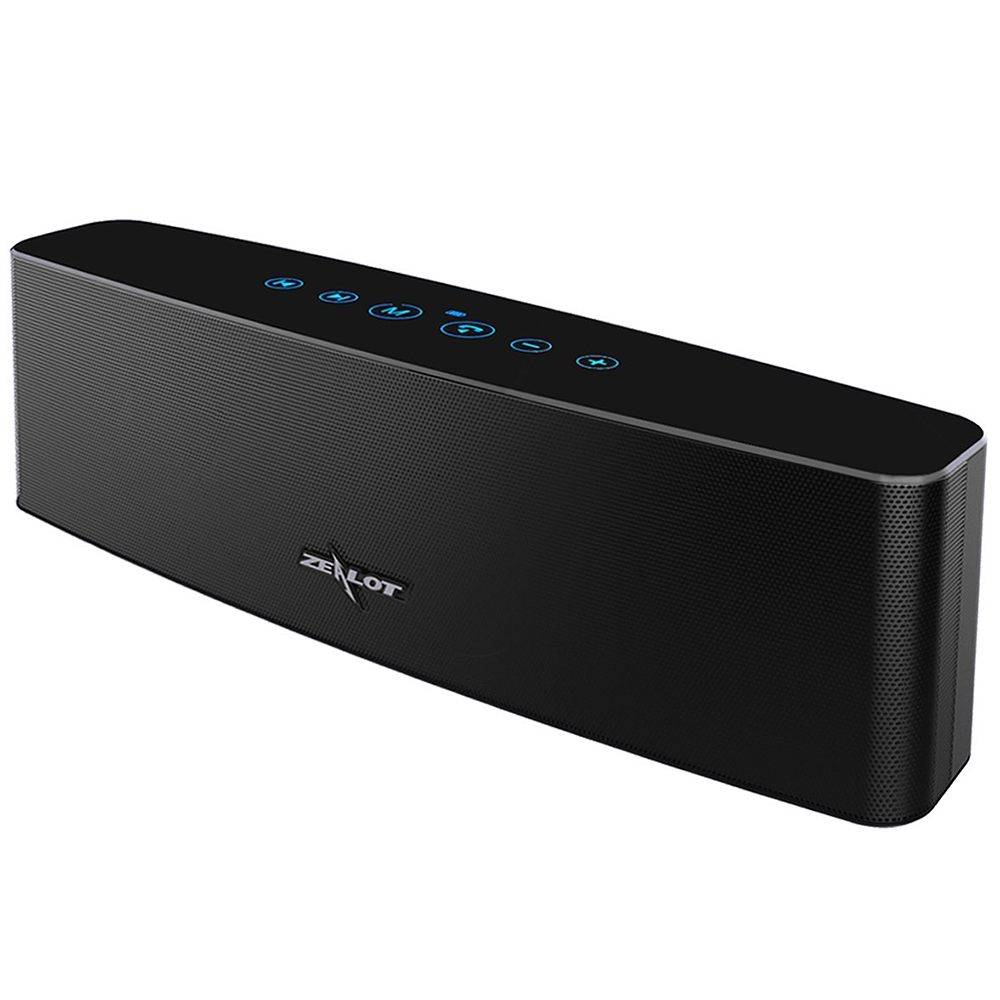 ZEALOT S12 3D Surround Bass Stereo Bluetooth Wireless Speaker Column Touch Control 12W Support TF Card AUX PlayZEALOT S12 3D Surround Bass Stereo Bluetooth Wireless Speaker Column Touch Control 12W Support TF Card AUX Play