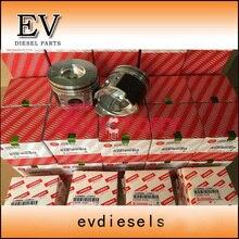 Motor reconstruir kit Yanmar 4TNV94 4TNV94L 4TNV94T pistão + anel + camisa do cilindro + kit de vedação completa + kit de rolamento