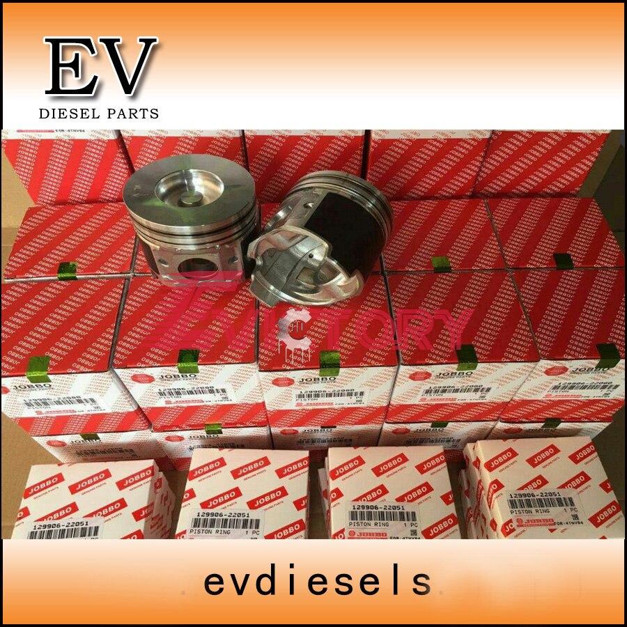 Engine rebuild kit Yanmar 4TNV94 4TNV94L 4TNV94T pistone + anello + cilindro liner + kit guarnizioni completo + kit cuscinetto