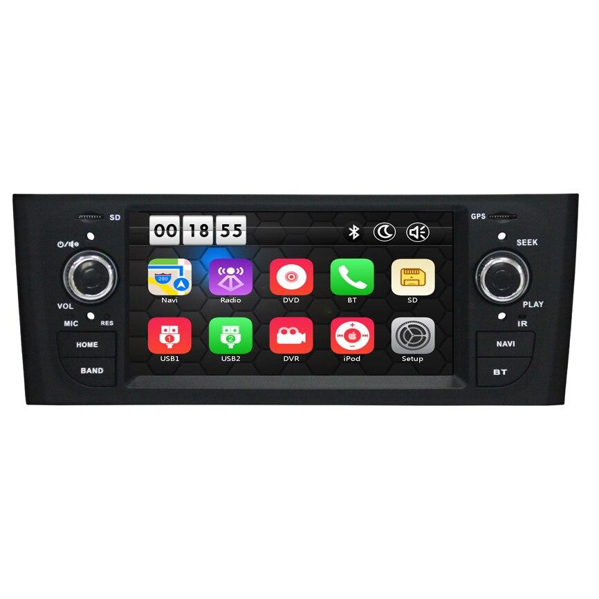 Lecteur multimédia DVD de voiture 6.1 pouces stéréo pour Fiat/Grande/Punto/Linea 2007-2012 Canbus Radio GPS Navigation FM BT 1080 P cartes