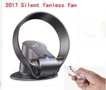 2018super quiet  variable speed non-blade  bladeless fan home office has the remote timing function   folding fan 12 inches