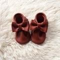 Equipaje de Cuero Genuino Zapatos de Bebé Hecha A Mano Infantil de Zapatos