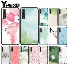 Yinuoda Safflower green leaf TPU black Phone Case Cover Shell for Haiwei P9 P 10 Plus P20 P20 Pro Honor 9 10 Cover(China)