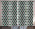 Абстрактные шторы геометрические круги в квадратах разные тона современный необычный Ретро хипстер гостиная спальня оконные шторы