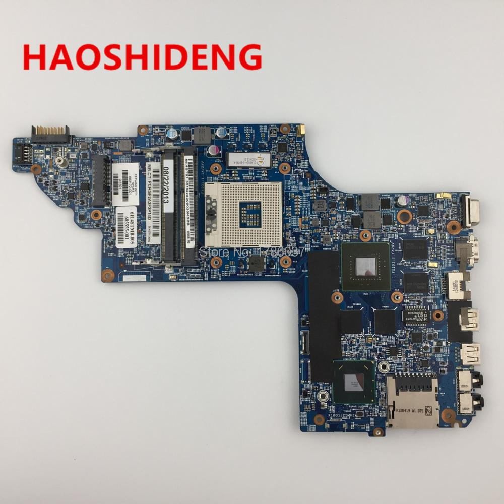 682172-001 682172-501 for HP Pavilion DV6  DV6T DV6-7000 series motherboard with GT650M/1G.All functions fully Tested ! 509450 001 motherboard for hp pavilion dv6 daut1amb6d0 tested good