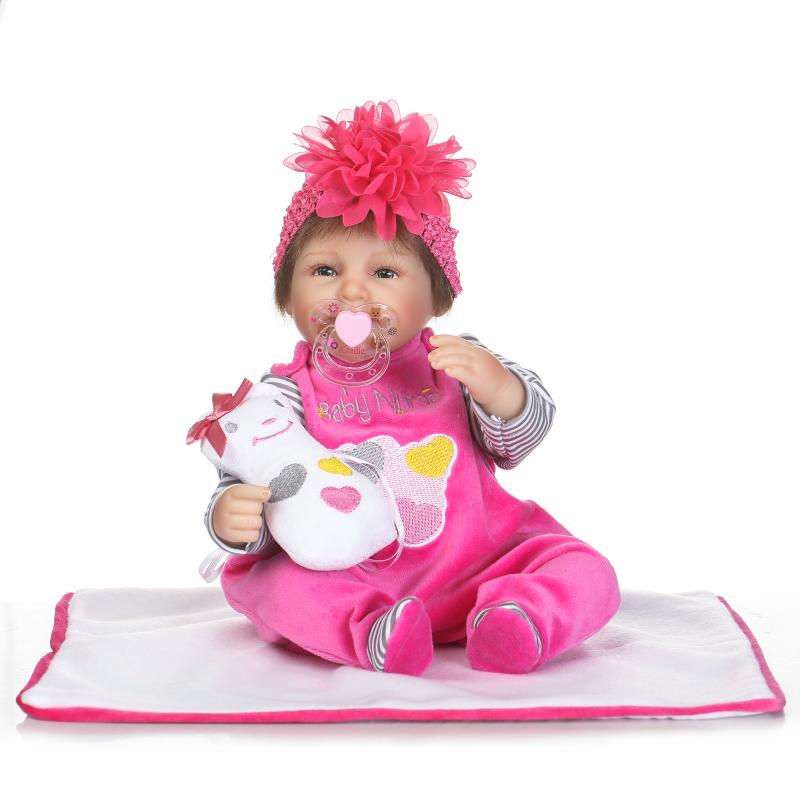 reborn babies realistic silicone reborn dolls 16 inch 40 cm new arrival lifelike baby reborn toys for kid s birthday gift Kawaii 16inch Silicone Reborn Dolls Toys 40cm Lifelike Baby Dolls Newborn  Reborn Doll Brinquedos For Kids Birthday Gift
