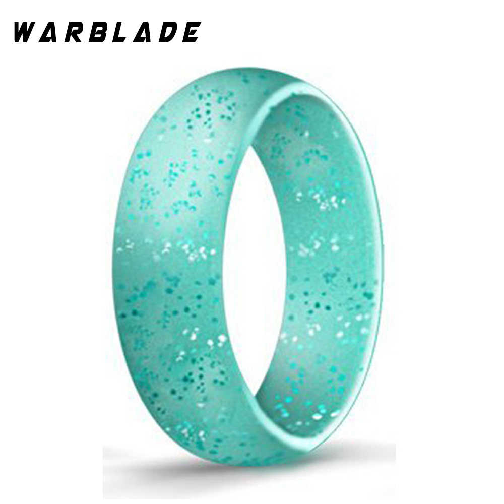 4-10 tamanho hypoallergenic crossfit flexível esportes silicone anel de dedo grau alimentício fda silicone anel para presente de casamento feminino 5.7mm
