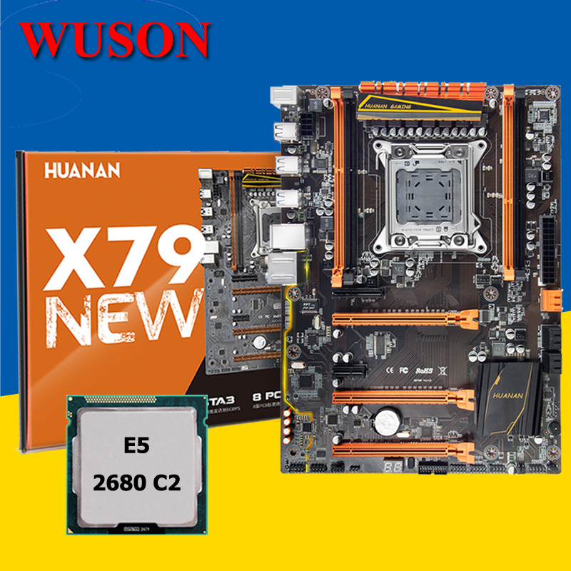 HUANANZHI X79 Gaming Motherboard With CPU Intel Xeon E5 2680 2.7GHz Discount Computer Hardware Supply Tested Before Shipping