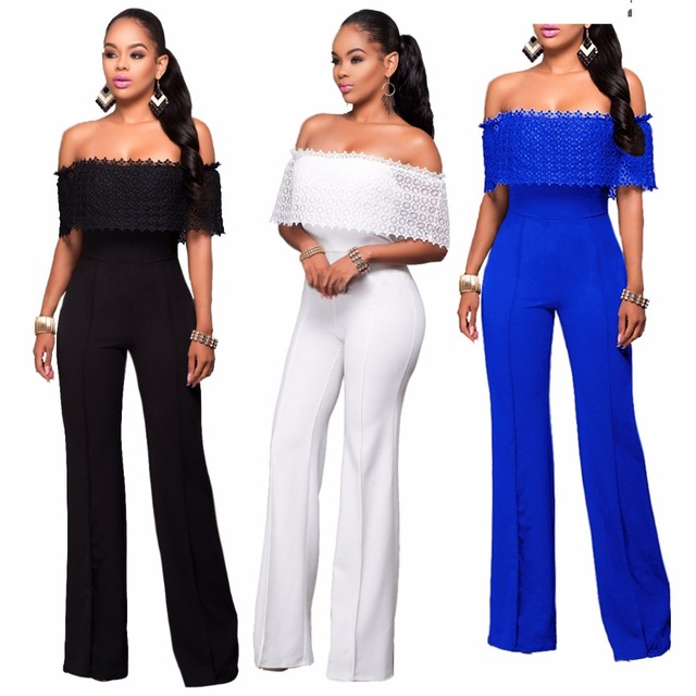 dd48a8f969c5 2019 Fashion Women One-piece Clothing tube Jumpsuit Lace Cool Sexy Bodysuit