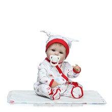 Mjuka Silikon Vinyl Dolls 40cm Reborn Baby Handgjorda Duk Body Lifelike Babies Play House Toy Barnens födelsedag presenter