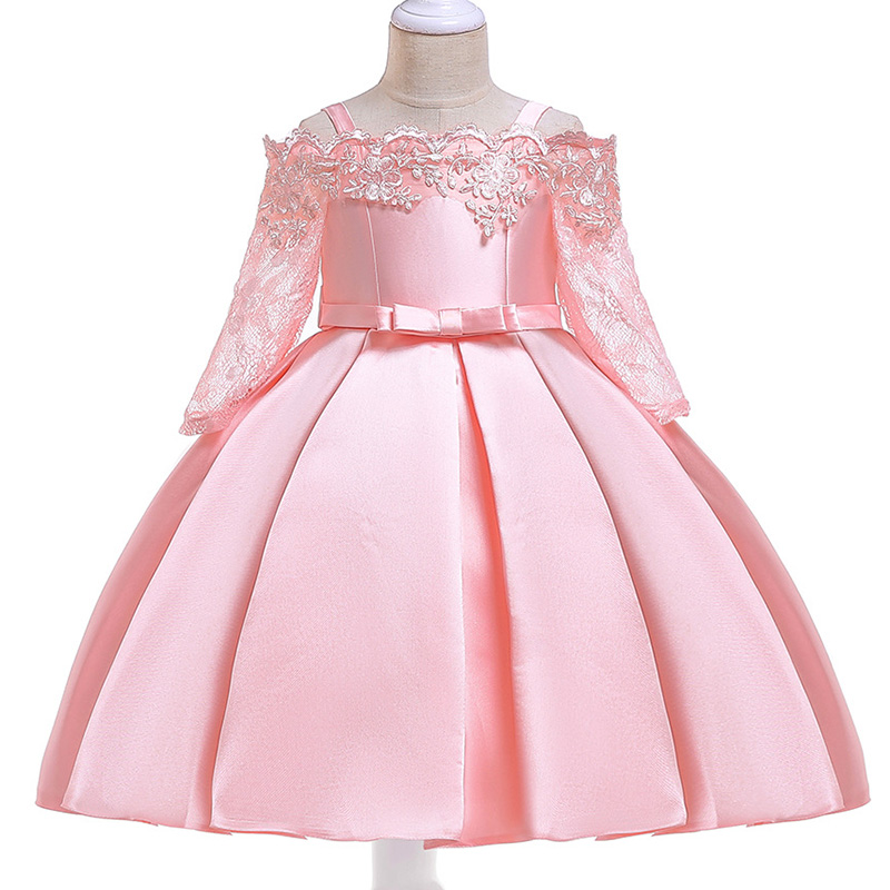 2019 Girl Dress Wedding Children's Party Dress First Communion Dresses For Kids Child Fluffy Dress 3 -10 Year Baby Costume L5083