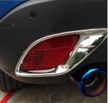Per Mazda CX-2012 2015-2016 Coda Posteriore Della Luce di Nebbia lampada Coperture ABS Finiture Cromate Adesivi Styling Auto Accessori 2 Pcs