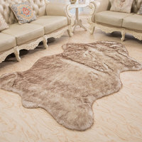 SR 1x1.5m Shag Rug Sheepskin Carpet Faux Fur Area Rugs And Carpets For Living room Bedroom Coffee Table Mat Chair Cover Mats