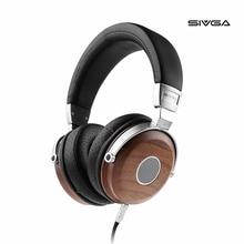 SIVGA SV005 세미 오픈 백 헤드폰, 50mm 드라이버 및 케이스, 호두 나무로 된 헤드셋