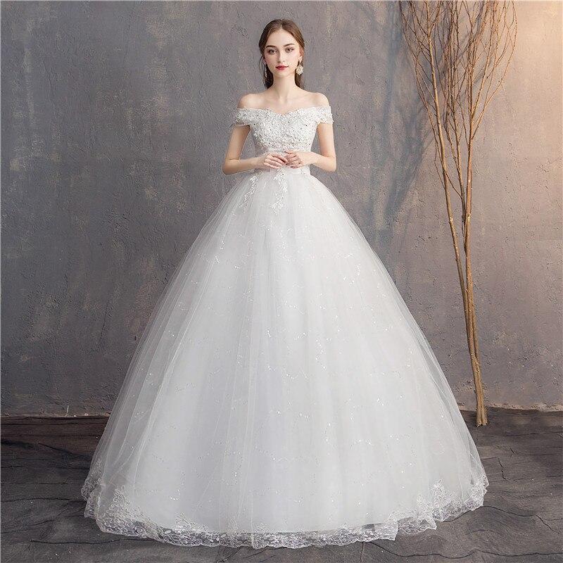 Do Dower dentelle broderie 2019 robes De mariée chérie élégante grande taille pas cher robe De mariée Vestido De Noiva mariée
